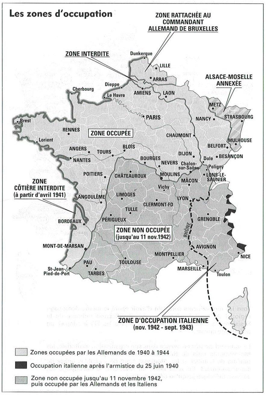 Carte Occupation Allemagne 1945.L Occupation Allemande Memoire De La Deportation Dans L